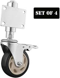 Ayj 3 4 Spring Loaded Heavy Duty Gate Wheel Swivel Caster Wheels Silent Bearings Ideal For Wooden Gate Privacy Fence Home Depot Corrals Etc Amazon Co Uk Kitchen Home