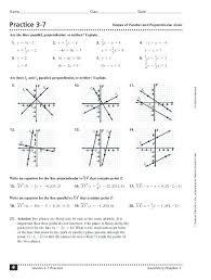parallel perpendicular lines worksheets