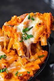 easy baked ziti recipe cheesy creamy
