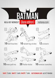 workout like batman or wolverine