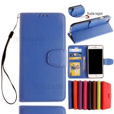 litchi skin pu leather wallet case