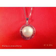 palazo jewellery pearl pendant 18k
