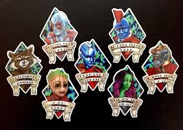 Groot Guardians Of The Galaxy Vinyl Sticker Ashley Villers