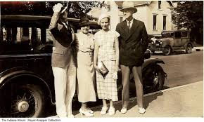 4 people by a car, Bloomington, Indiana, Summer, 1934 - They are ...