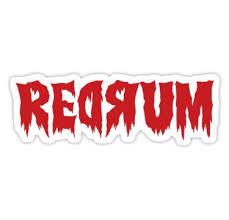 The Shining Redrum Sticker In 2020 Redrum Movie Tattoos Vinyl Printer