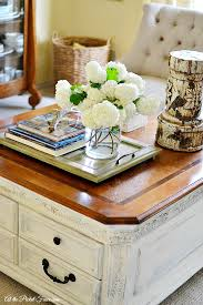 chalky finish coffee table makeover
