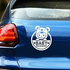 Baby Child Window Bumper Car Sign Decal Sticker Toddler On Board Home Garden Decor Decals Stickers Vinyl Art