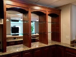 bar mirrors with 1 2 shelves