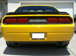 08 14 Dodge Challenger Taillight Blackout Decal Rocky Mountain Graphics