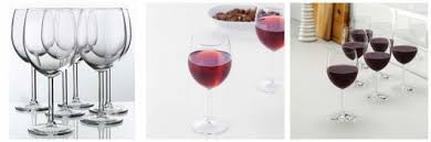 ikea hederlig red wine glass clear