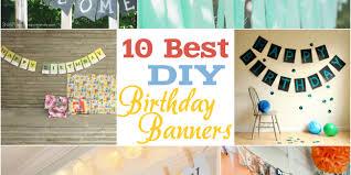 diy birthday banner ideas easy craft
