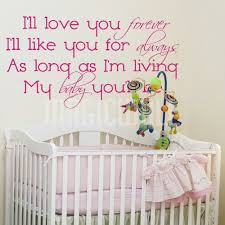I Will Love You Forever I Will Like You For Always Magic Wall Decals Canada