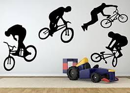 Amazon Com Wall Room Decor Art Vinyl Sticker Mural Decal Bmx Bike Bicycle Big Large As1007 Home Kitchen