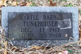 FUNKHOUSER, MYRTLE - Washington County, Arkansas   MYRTLE FUNKHOUSER -  Arkansas Gravestone Photos