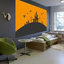 Shop Full Color Bats Sunsent Halloween House Full Color Wall Decal Sticker Sticker Decal 22 X 35 On Sale Overstock 15215089