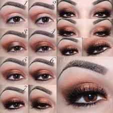 rose gold shimmery eye makeup tutorial
