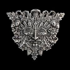 green man face pendant 92 5 sterling