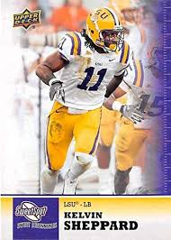 Kelvin Sheppard football card (LSU Tigers) 2011 Upper Deck College ...