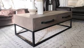 diy wood and steel coffee table tig