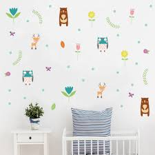 Woodland Bear Deer Diy Wall Decals For Kids Room Jungle Friend Animals Vinyl Wall Sticker Nursery Wall Art Baby Room Home Decor Buy At The Price Of 3 49 In Aliexpress Com