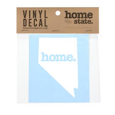 Home Vinyl Decal Nevada Home State Apparel