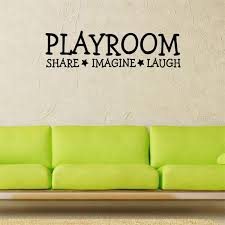 Share Imagine Laugh Playroom Quotes Wall Black Playroom Wall Sticker Decal 3d Waterproof Sticker Kids Playroom Sign Wish