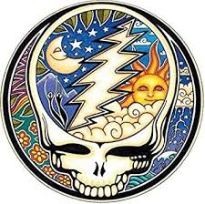 Amazon Com Grateful Dead Night And Day Steal Your Face Bumper Sticker Helmet Sticker Automotive