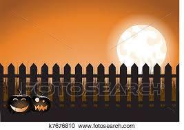 Halloween Picket Fence Clipart K7676810 Fotosearch
