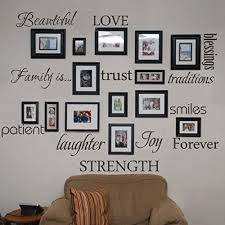 Amazon Com Family Wall Decal Set Of 12 Family Words Quote Vinyl Family Wall Sticker Picture Wall Decal Family Room Art Decoration White Home Kitchen