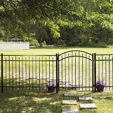 Freedom 72 X 48 Black Aluminum Fence Panel At Lowes Com