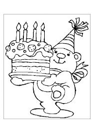 Hoera 4 Jaar Kleurplaten Verjaardag Feestbeesten