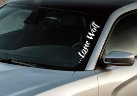 Buy Window Body Banner Lone Wolf Truck 4x4 Off Road Diesel Neck Power Vinyl Decal