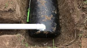 our homemade septic system on the