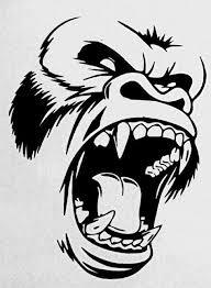 Decals Stickers King Kong Gorilla Atv Waterproof Racing 0500 13027 For Sale Online Ebay