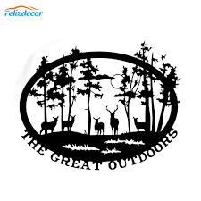 Adventure Decal Hiking Sticker Vinyl Funny Car Stickers Trees Outdoors Nature Car Decals Creative Animals Car Decor New L418 Car Stickers Aliexpress