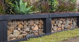Create A Stunning Affordable Gabion Garden Wall Better Homes And Gardens
