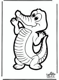 Krokodil Kleurplaat Dieren Knutselen Dieren Dierentuin Knutselen