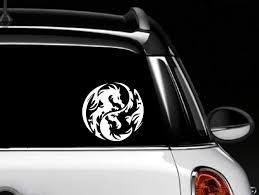 Amazon Com Dragon Yin Yang Car Vinyl Decal Skin Sticker Everything Else
