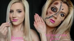 zombie barbie grwm halloween makeup