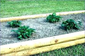 wooden garden edging how to install