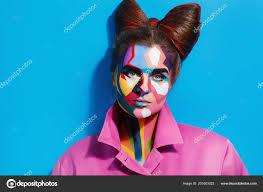pages woman creative pop art makeup