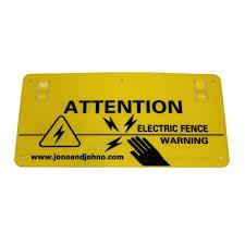 10x Electric Fence Warning Safety Sign Danger Farm Energizer Fencing Ebay