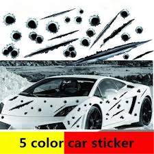 2020 Stylish 5 Design Sticker For Car Fake Bullet Hole Scratch Auto Decals Car Body Sticker Cool Car Decal Atp234 From York Xu 0 83 Dhgate Com