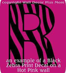 Zebra Print Alphabet Letters Vinyl Wall Sticker Decals 1pc 11 Inch