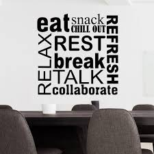 Office Wall Decal Break Room Word Collage Vinyl Wall Etsy