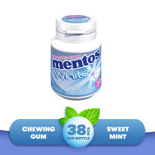 mentos white chewing gum sweet mint
