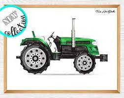 Tractor Kids Decor Etsy