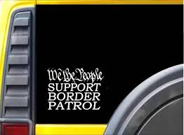 We The People Border Control Sticker K212 6 Inch Republican Decal Window Sticker Stickers Aliexpress