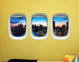 Airplane Window Stickers For Kids Plane Window Clings Tokyo Wall De
