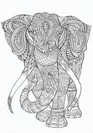 Elephant Abstract Doodle Zentangle Zendoodle Paisley Coloring